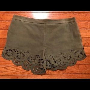 Stylish leather/suede shorts